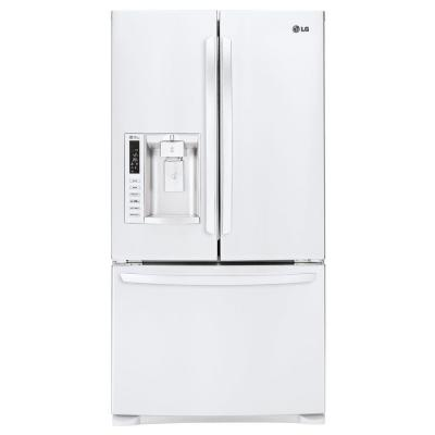 LG Electronics 26.8 cu. ft. 3 Door French Door Refrigerator in Smooth White