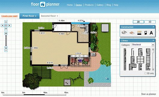 Interior design software planning in the virtual world for Floorplanner software