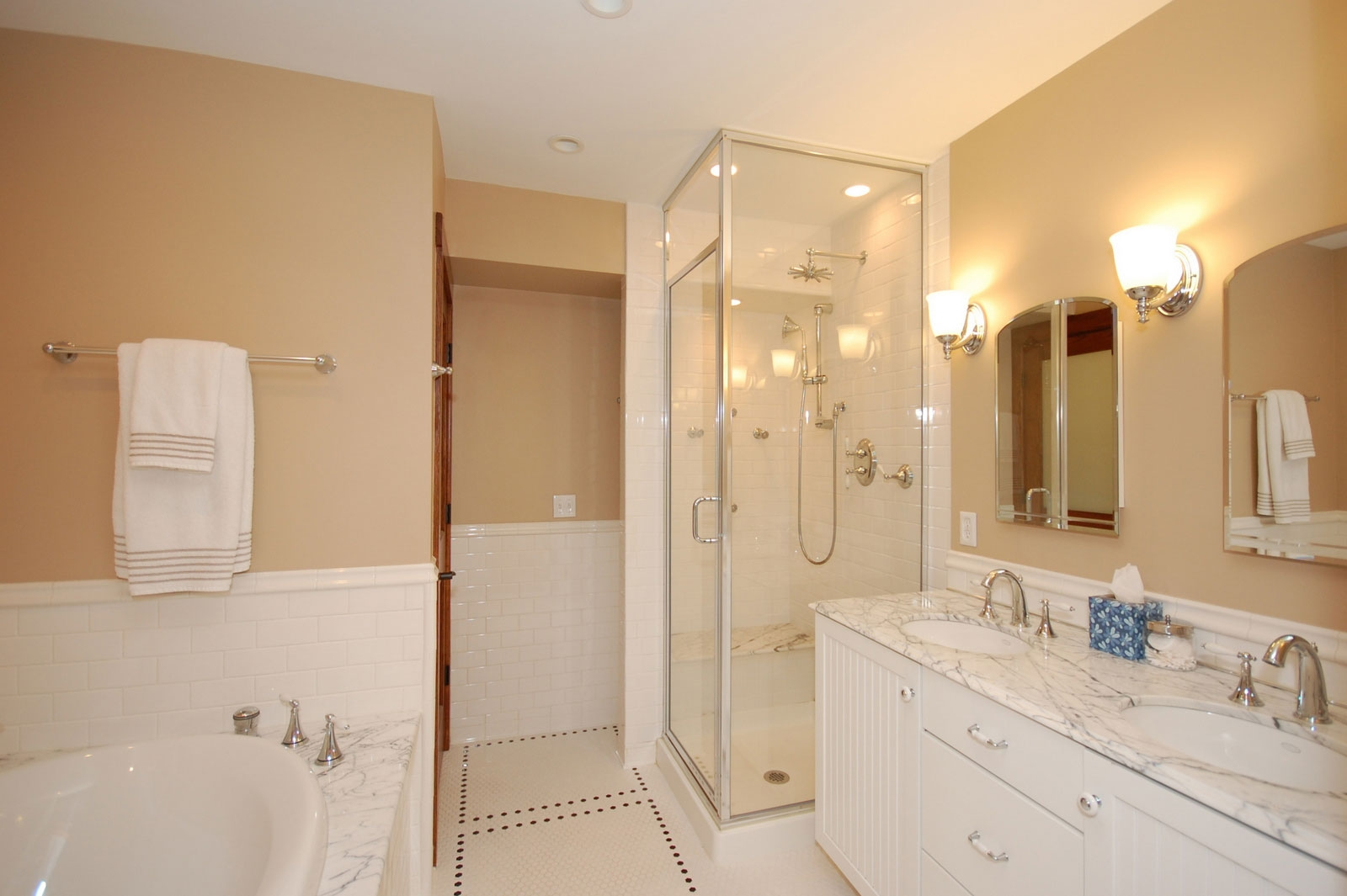 Design Ideas Small Bathroom with Separate Tub and Shower ... on Simple Small Bathroom Ideas  id=26821