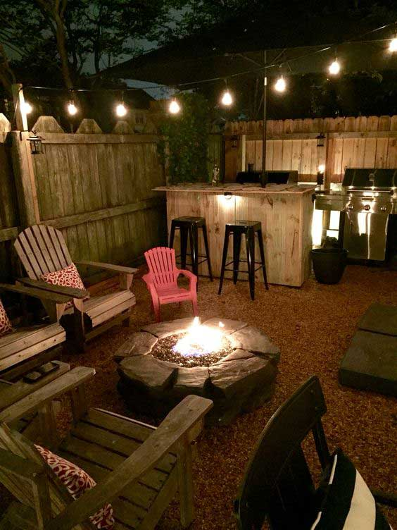 22 Backyard Fire Pit Ideas with Cozy Seating Area ... on Back Garden Seating Area Ideas  id=49035