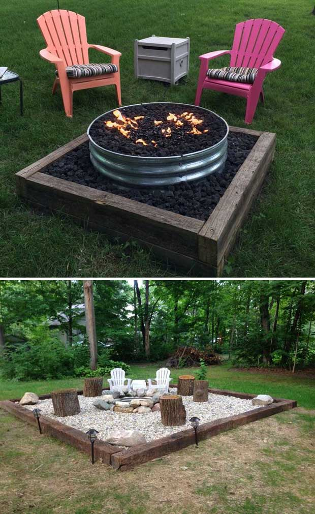 22 Backyard Fire Pit Ideas with Cozy Seating Area ... on Back Garden Seating Area Ideas  id=34235