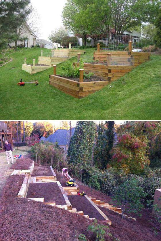 22 Amazing Ideas to Plan a Slope Yard That You Should Not ... on Backyard With Slope Ideas  id=97044