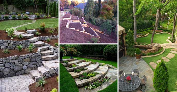 22 Amazing Ideas to Plan a Slope Yard That You Should Not ... on Patio On A Slope Ideas id=53641