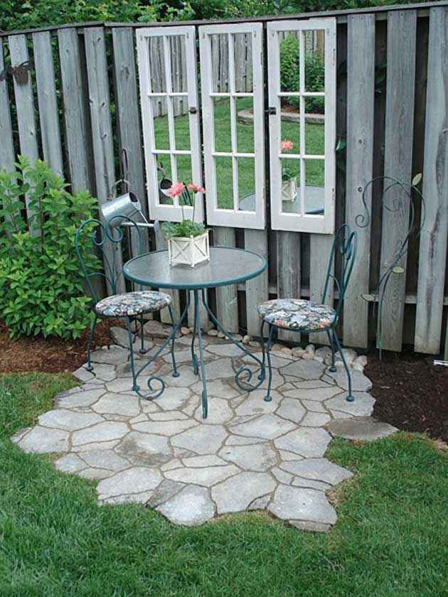 23 Easy-to-Make Ideas Building a Small Backyard Seating ... on Small Garden Sitting Area Ideas  id=81327
