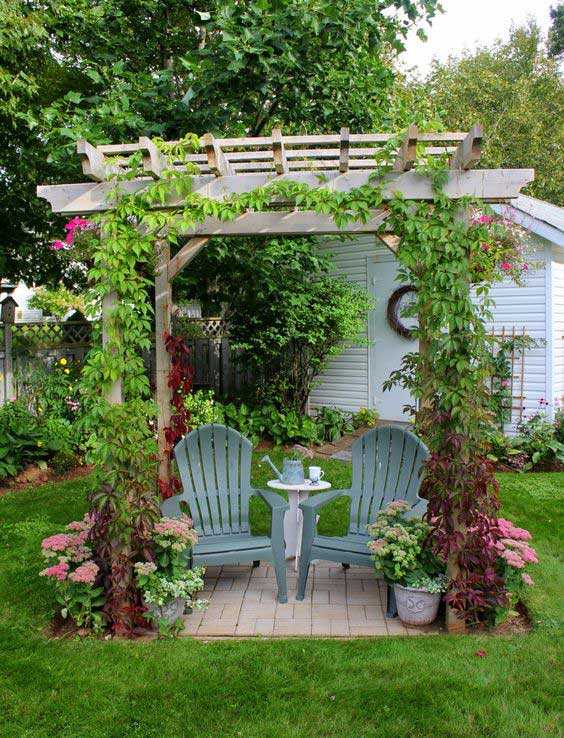 23 Easy-to-Make Ideas Building a Small Backyard Seating ... on Small Garden Sitting Area Ideas  id=88241