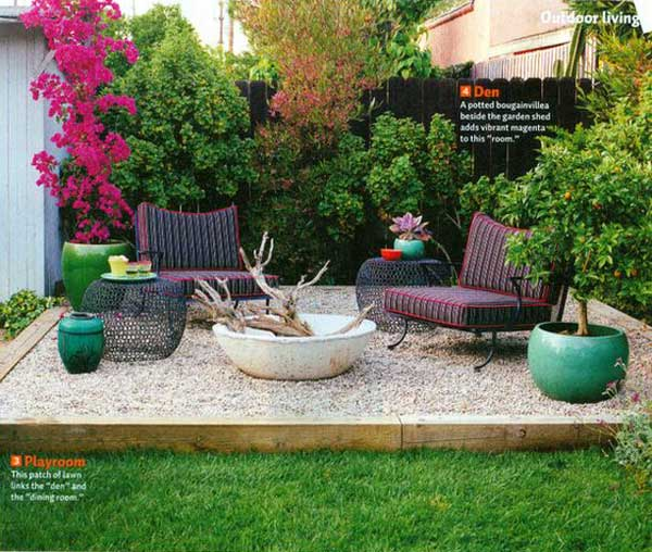 23 Easy-to-Make Ideas Building a Small Backyard Seating ... on Back Garden Seating Area Ideas  id=24278