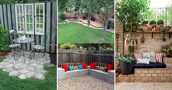 23 Easy-to-Make Ideas Building a Small Backyard Seating ... on Back Garden Seating Area Ideas  id=16012