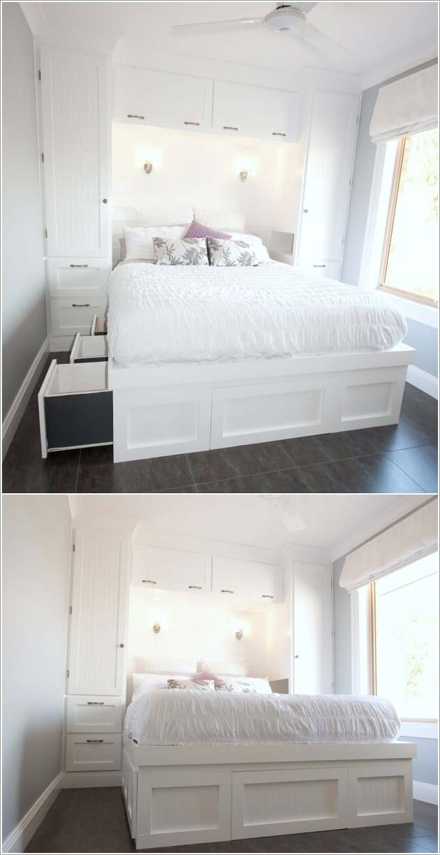 31 Small Space Ideas to Maximize Your Tiny Bedroom ... on Bedroom Ideas For Small Room  id=87489