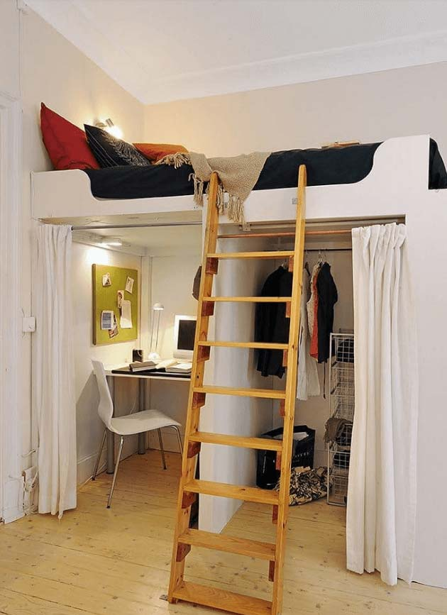 31 Small Space Ideas to Maximize Your Tiny Bedroom ... on Bedroom Ideas Small Room  id=42253