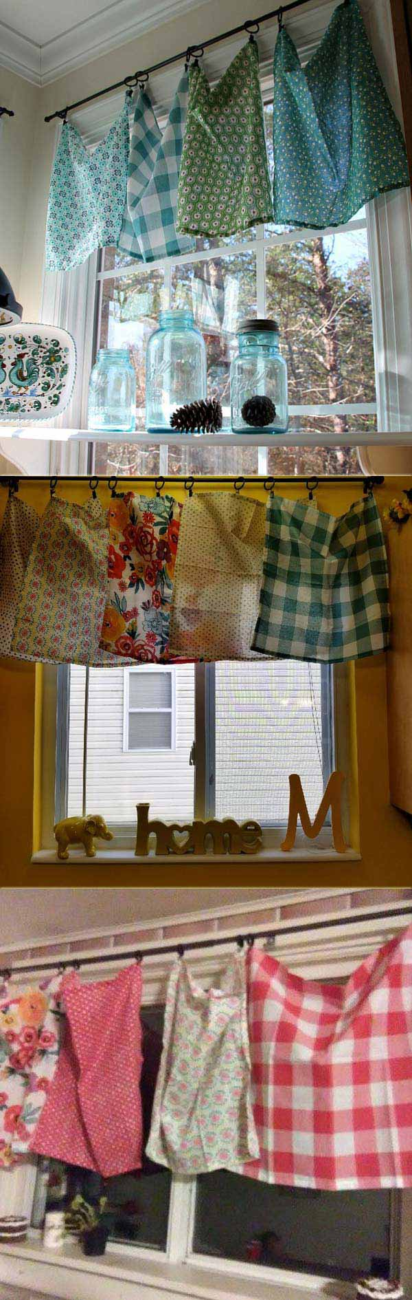 cheap and easy diy window valance ideas