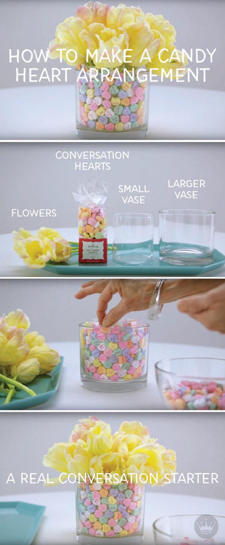 Candy Heart Arrangement