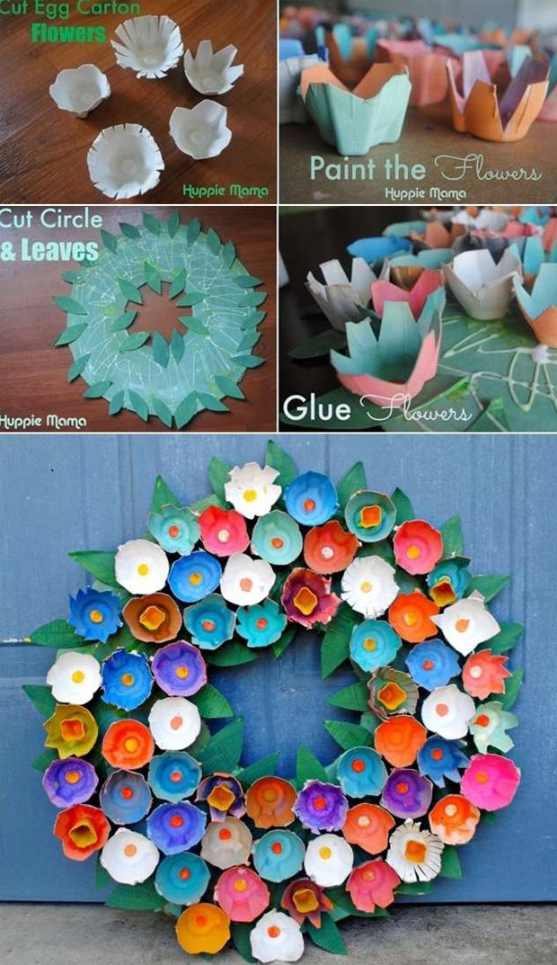 Recycle an Egg Carton to Make This Unique Wreath