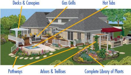 virtual architect ultimate home design w landscaping decks 10
