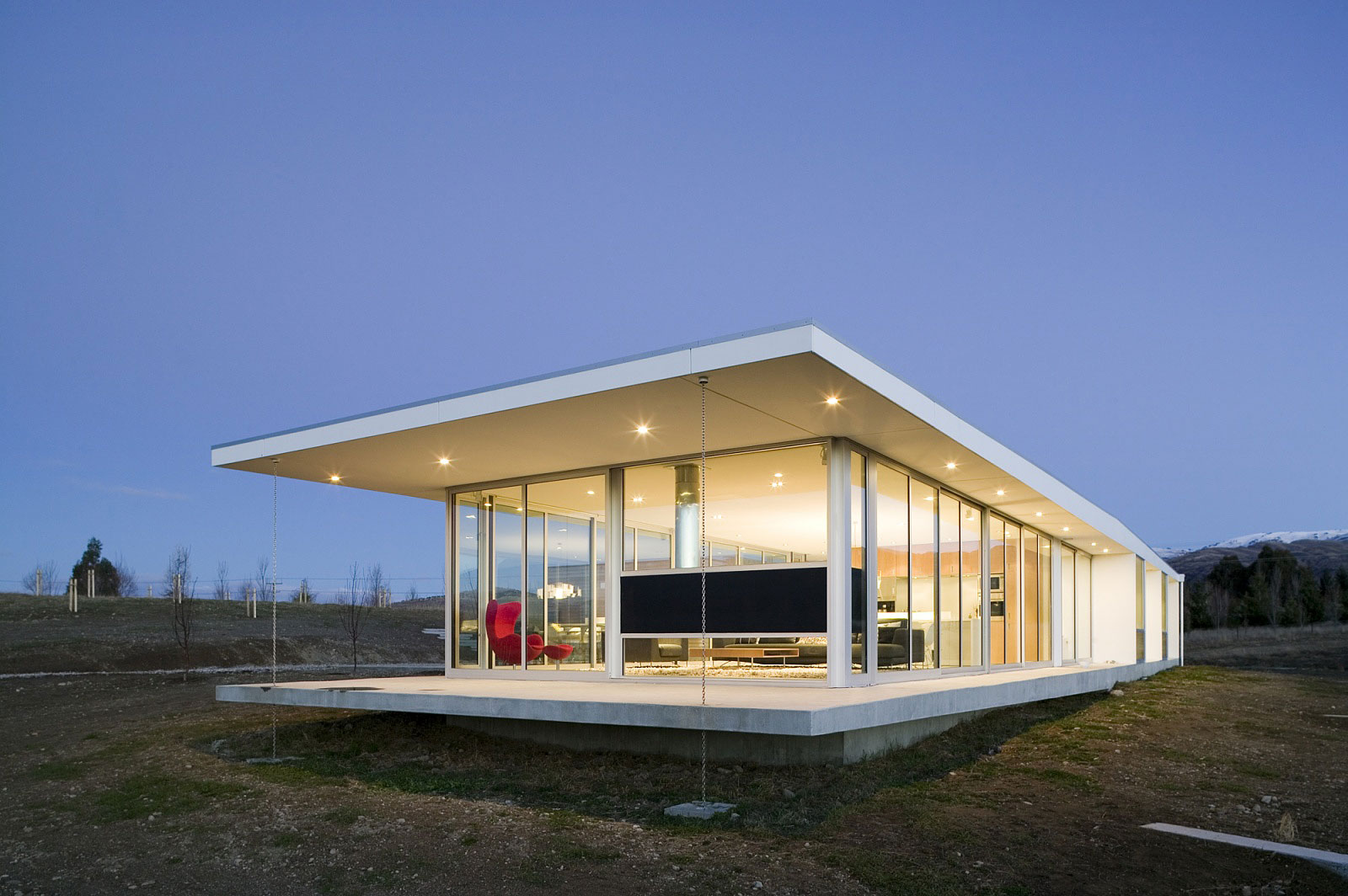 Modern glass house in New Zealand | Homedezen on Modern Glass Houses  id=24339
