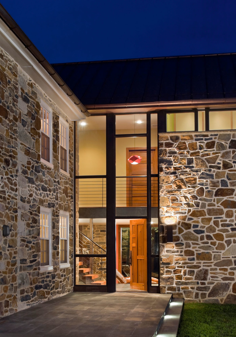 Stone Farmhouse Addition And Renovation By Wyant