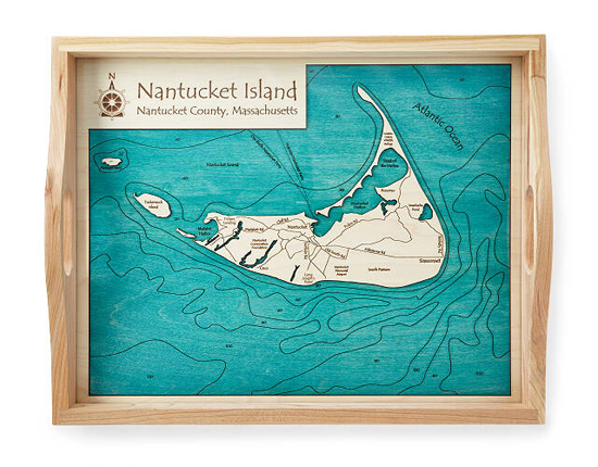 Gorgeous Coastal and Lake Art Serving Tray to Serve Your Guests with Style