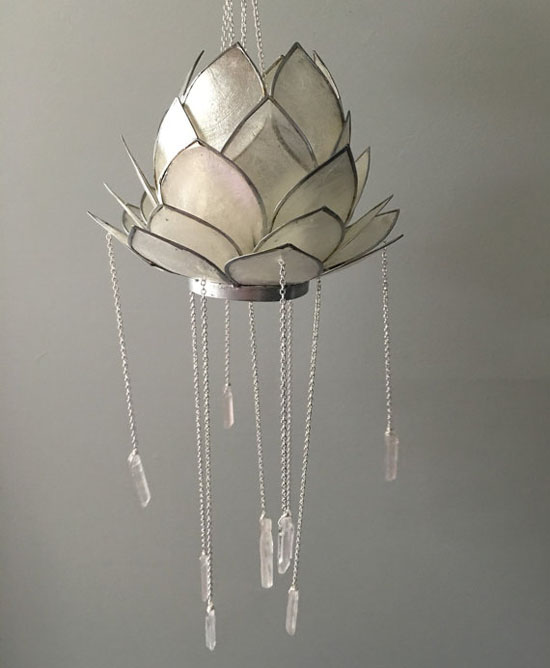 Crystal Bohemian Style Chandelier in Lotus Form