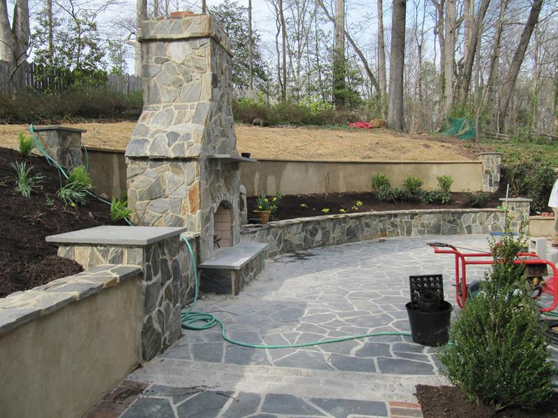 26 Awesome Stone Patio Designs for Your Home on Patio Stone Wall Ideas  id=73586