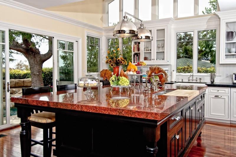 24 Beautiful Granite Countertop Kitchen Ideas on Farmhouse Granite Countertops  id=29896