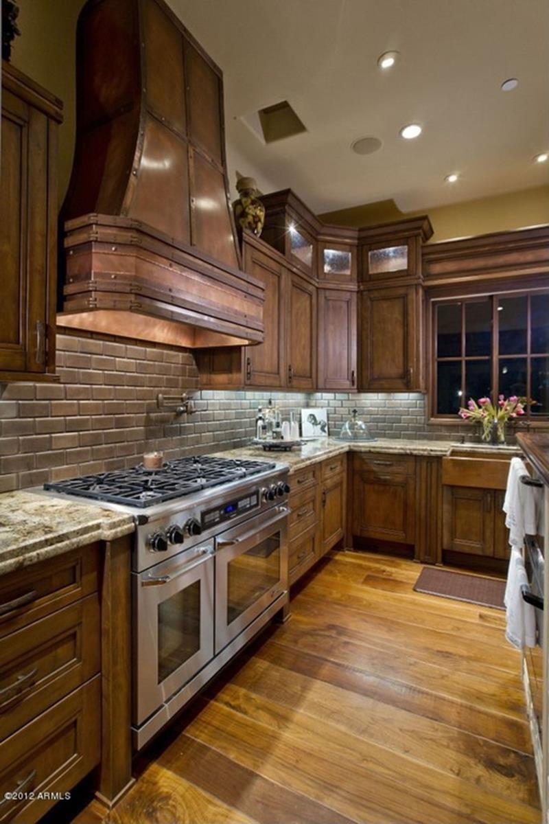 19 Brilliant and Beautiful Kitchen Backsplash Ideas - Page ... on Backsplash Ideas For Dark Cabinets  id=50135