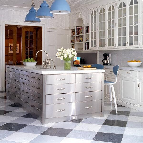 Black And White Kitchen Floor: 30 Kitchen Floor Tile Ideas, Designs And Inspiration 2016