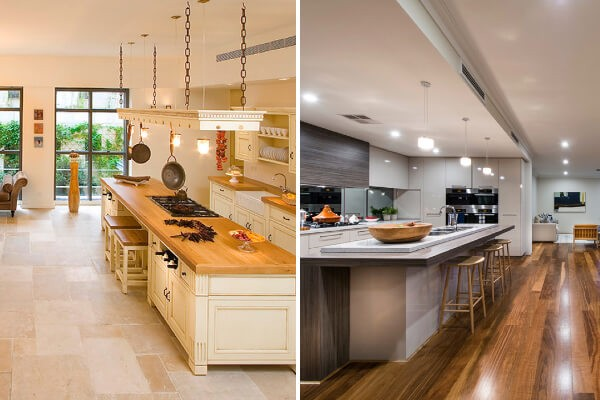 tile versus hardwood