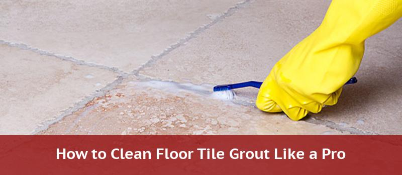 how to clean tile floor grout like the