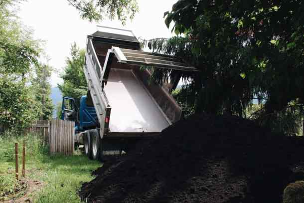 Topsoil Delivery by Dump Truck | Home for the Harvest Gardening Blog