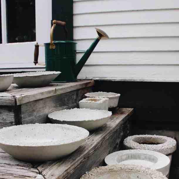 Concrete Succulent Bowls   Home for the Harvest
