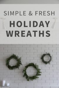 Simple Fresh Holiday Wreaths Tutorial | Home for the Harvest