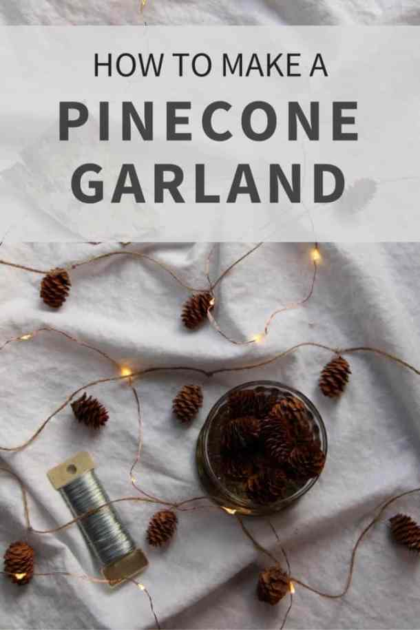 How to Make a Pinecone Garland | Home for the Harvest | www.homefortheharvest.com