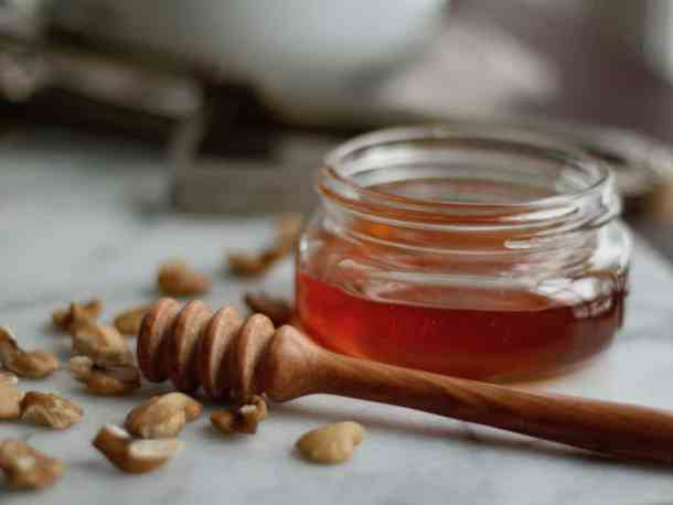 Honey Pot with Black Walnuts | Home for the Harvest