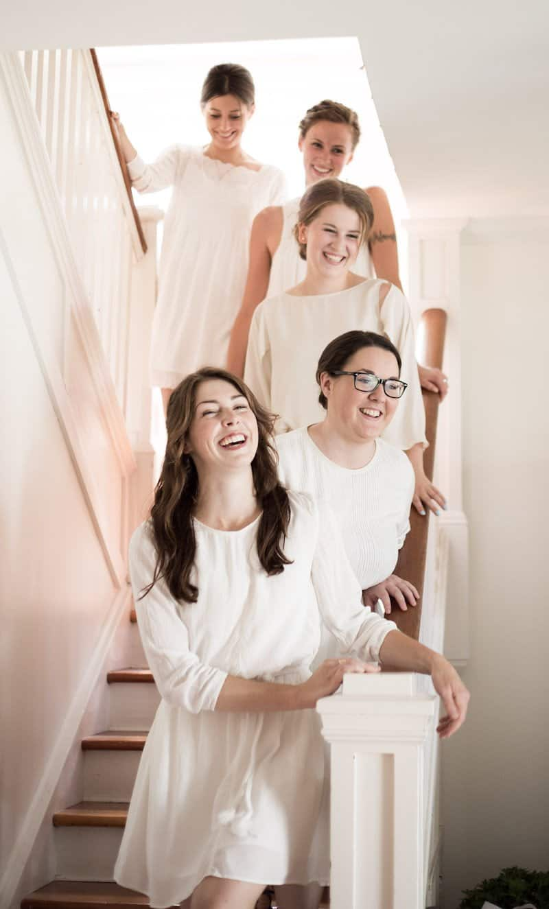Let your bridesmaids pick their own dresses from a store that you know and like! The dresses don't have to match exactly :) | Home for the Harvest