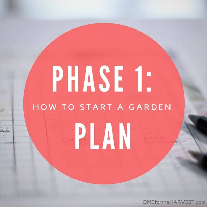 Phase 1: Plan the Garden - How to Start a Garden | Home for the Harvest