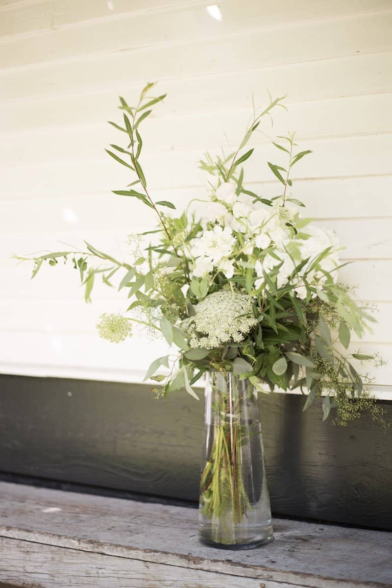 Simple Foliage and Flower Bridal Bouquet | Home for the Harvest - by Lightwell Photo