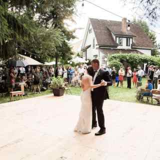 How we set up our yard to host a backyard garden wedding | Home for the Harvest