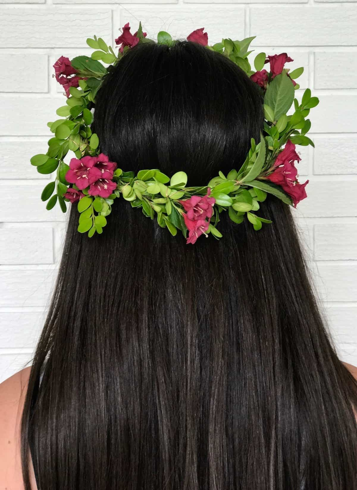 How To Make A Flower Crown With Real Flowers Home For The Harvest