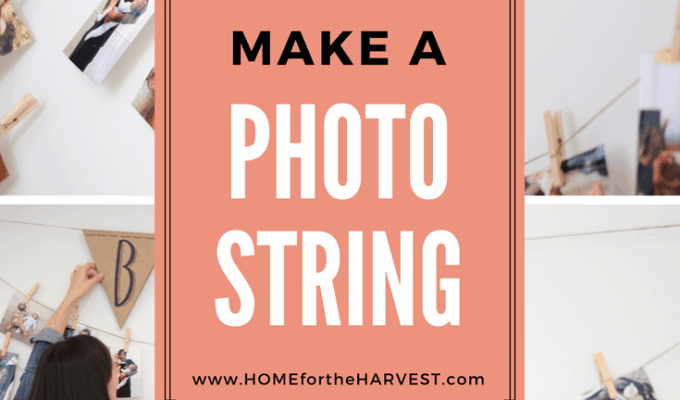 How to Make a Photo String