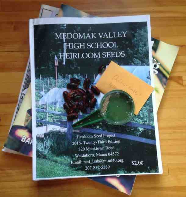 seed saving heirloom seed catalog from medomak valley high school in maine
