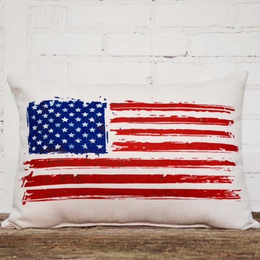 american flag pillow rectangle