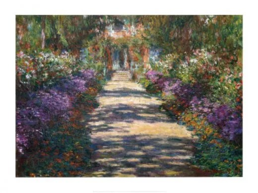 Poster Picture of the Main Garden Path
