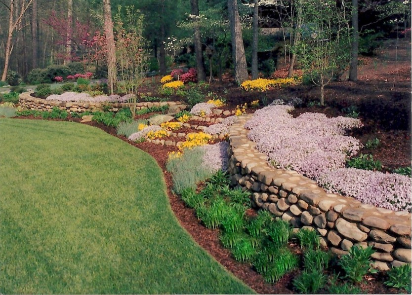 Home & Garden Design works with house style to create ... on Backyard Lawn Designs  id=79220