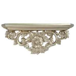 Ornate pewter plinth shelf