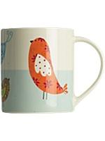 Linea patchwork birds mug