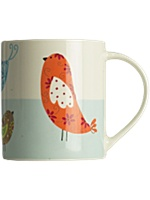Linea patchwork birds mug