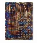 Spiral design metal panel wall art