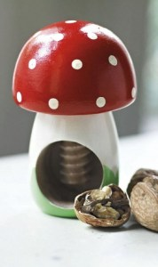 Quirky toadstool nutcracker reduced at Plumo