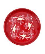 Red Eva bird design tray from Liberty