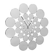Metal circles wall clock reduced at Debenhams