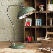 Traditional vintage green pharmacy desk lamp